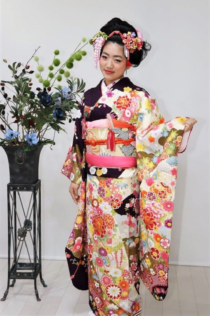 大阪、日産呉服・和田甚、正絹高級振袖レンタル|FUN-1009|:¥198,000
