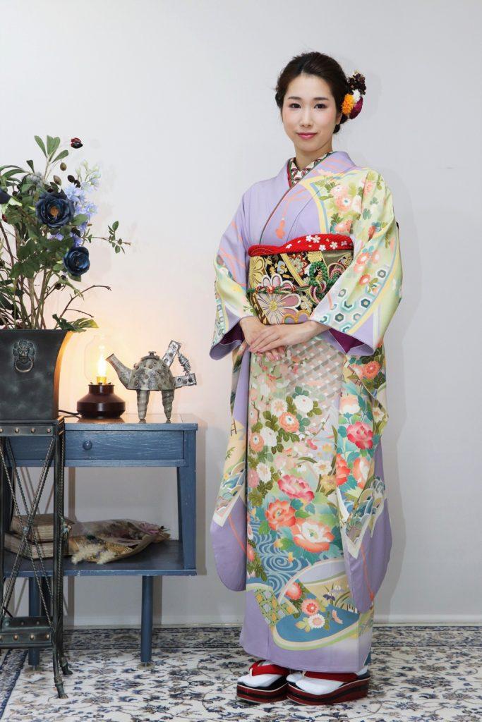 日産呉服・和田甚、振袖コレクション:FUN-1006/レンタル価格:¥198,000